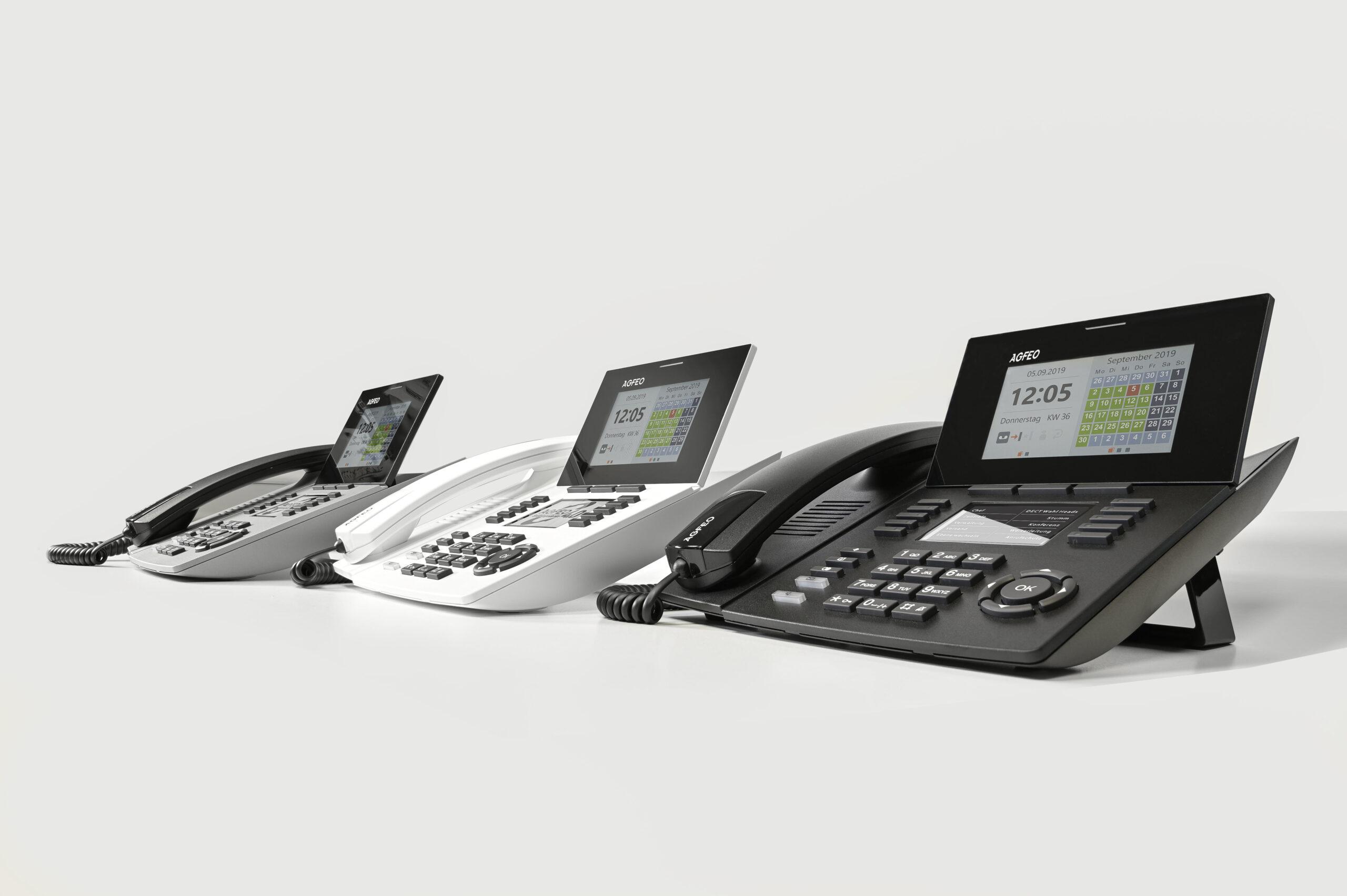 AGFEO SENSORfon – jetzt auch in weiß und silber erhältlich