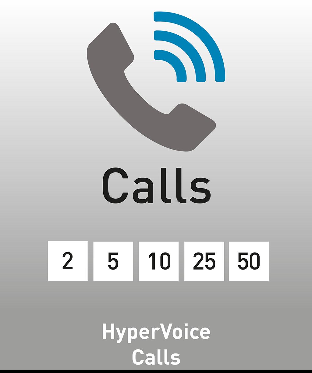 Logo der AGFEO HyperVoice Calls Lizenz